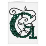 Celtic Letter G card