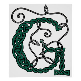 Celtic Letter G print