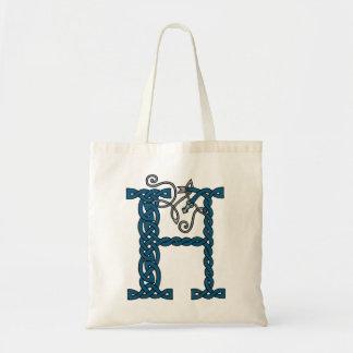 Celtic Letter H bag