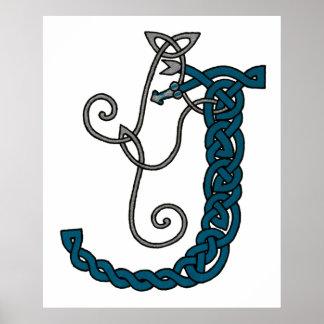 Celtic Letter J print