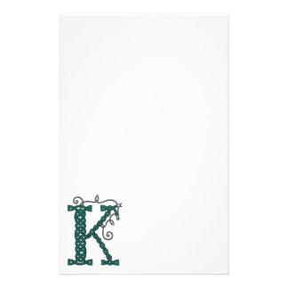 Celtic Letter K stationery