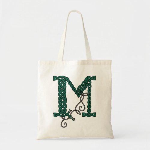 Celtic Letter M bag