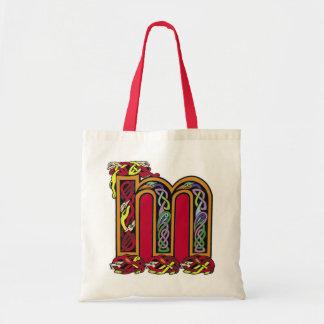 Celtic Letter 'M' - Bag