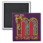 Celtic Letter 'M' - Magnet