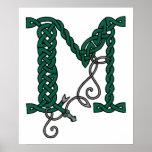 Celtic Letter M print
