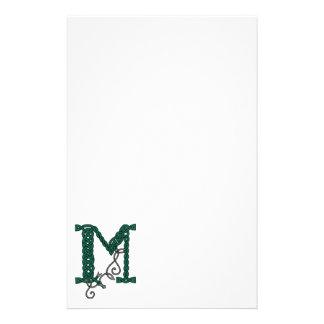 Celtic Letter M stationery