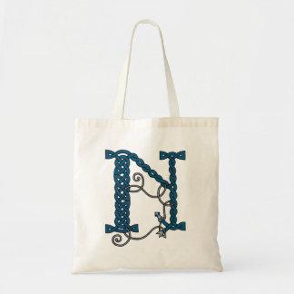 Celtic Letter N bag