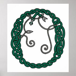 Celtic Letter O print