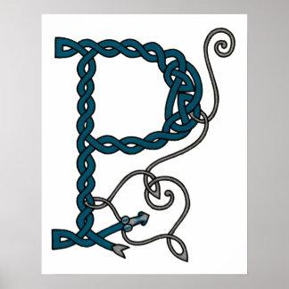 Celtic Letter P print