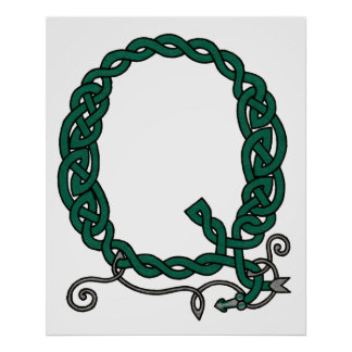 Celtic Letter Q print