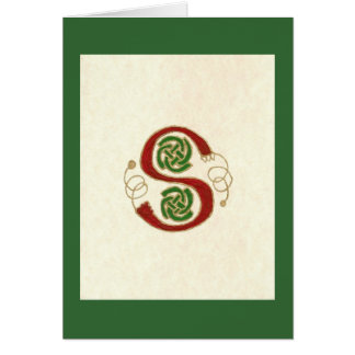 CELTIC LETTER S CARD