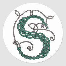 Celtic Letter S Stickers