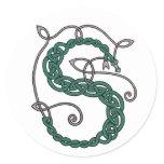 Celtic Letter S Stickers