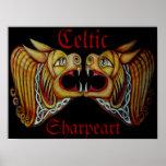 Celtic Lions Poster