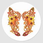 Celtic Loose Leaves Classic Round Sticker