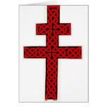 Celtic Lorraine Cross card