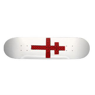 Celtic Lorraine Cross skateboard