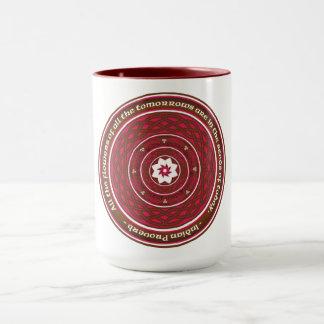 Celtic Lotus Mandala in Pink and Brown Mug