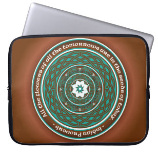 Celtic Lotus Mandala Laptop Sleeve