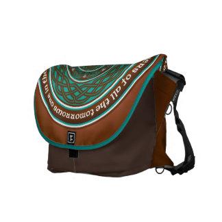 Celtic Lotus Mandala Messenger Bag