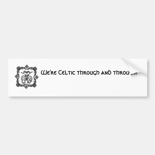 Celtic Love Birds Bumper Sticker