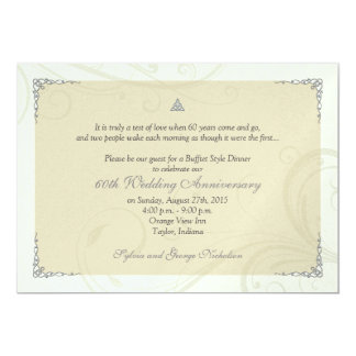 Celtic Love Knot Diamond Wedding Anniversary Personalized Announcement