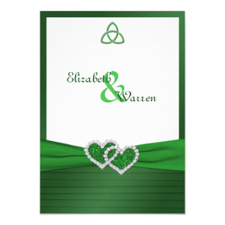 Celtic Love Knot in Emerald Green Invitation