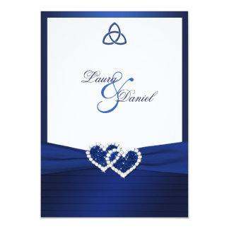 """Celtic Love Knot in Sapphire Blue Invitation 5"""" X 7"""" Invitation Card"""