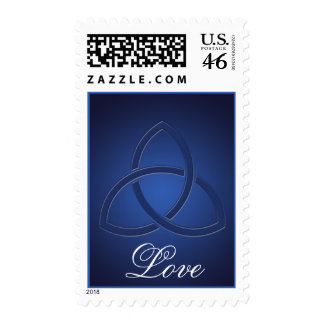 Celtic Love knot in Sapphire Blue Wedding Postage