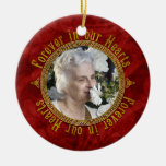 Celtic Love Knot Red Memorial Photo Christmas Christmas Ornaments