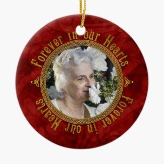 Celtic Memorial Photo Christmas Ornaments