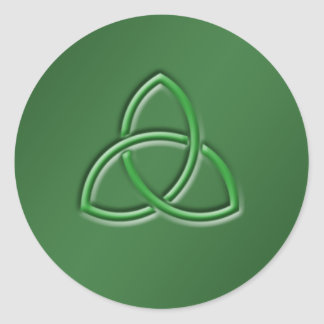 Celtic Love knot Round Sticker