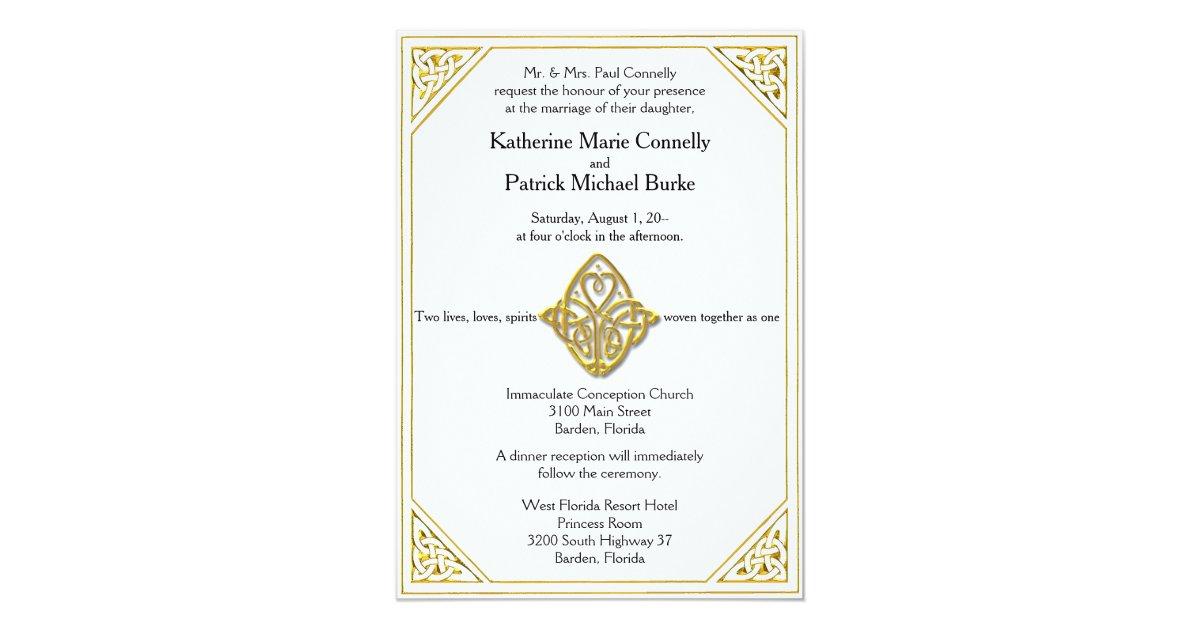 The Knot Addressing Wedding Invitations: Celtic Love Knot Wedding Invitations