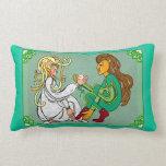 Celtic lovers lumbar pillow