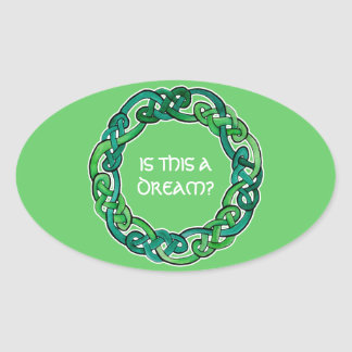 Celtic Lucid Dreaming Reality Check Oval Sticker