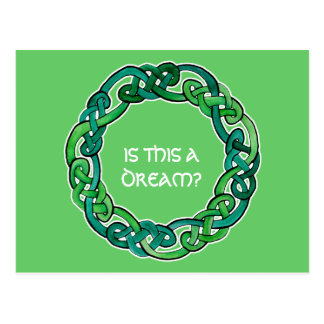 Celtic Lucid Dreaming Reality Check Post Card