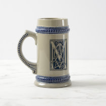 Celtic M Monogram Beer Stein