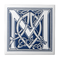 Celtic M Monogram Ceramic Tile
