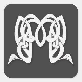 Celtic M Square Sticker