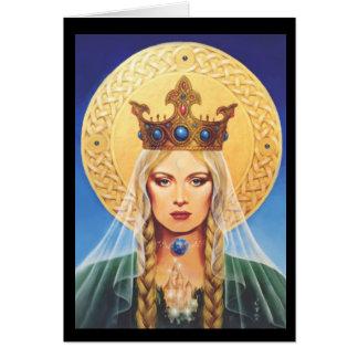 Celtic Madonna de Elizabeth Kyle. Tarjeta De Felicitación