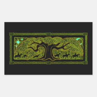 Celtic Magic - The Great Tree Rectangular Sticker