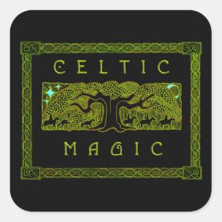 Celtic Magic - The Great Tree Square Sticker