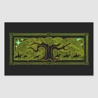 Celtic Magic - The Great Tree Rectangle Stickers
