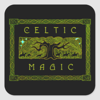 Celtic Magic - The Great Tree Square Stickers