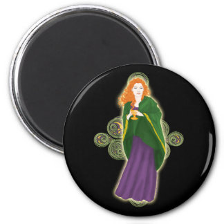 Celtic Magnets, Grail Maiden Design #1 2 Inch Round Magnet