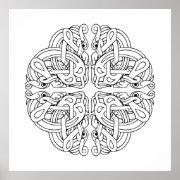 Celtic Mandala Art Poster