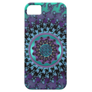 Celtic Mandala on Colorful Fractal Case for iPhone iPhone 5 Cases