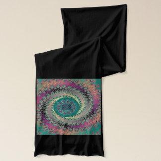 Celtic Mandala Spiral Fractal Scarf