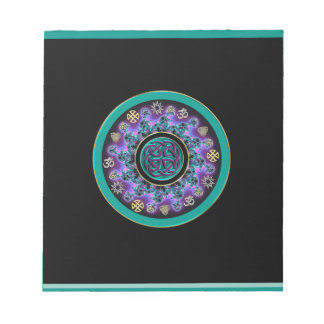 Celtic Mandala with Multicultural Symbols Notepad