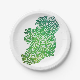 Celtic Map of Ireland Paper Plate